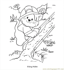 Filling Holes Coloring Page