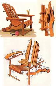 Beach Lifeguard Chair Plans by Folding Adirondack Chair Plans Outdoor Furniture Plans And