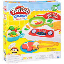 Play Doh Kitchen Creations Sizzlin Stovetop Toy 18 Pc Box