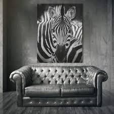 wandbild deko bilder leinwand bilder zebra tiere wohnzimmer bild