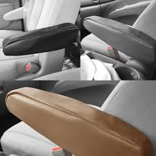 Faux Leather Pair Auto Car SUV Minivan Truck Armrest Covers Black ...