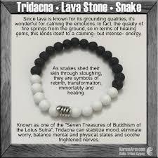 Snake Skin Shedding Lucky by Yoga Bracelets Raw Tridacna Lava Stone Snake