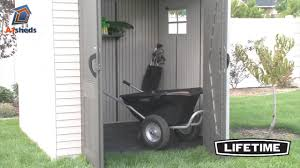 Suncast Sutton 7x7 Shed by Lifetime 7x7 Plastic Shed Youtube