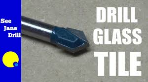 how to drill into glass tile youtube