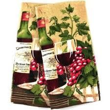 Wine Themed Kitchen Towel Velour Set Of 2 By BigKitchen Price 799 ThemesKitchen