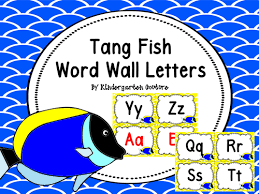 Word Wall Letters Tang Fish By Kindergartencouture