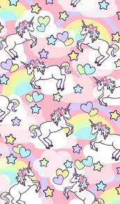 Unicorn Rainbow Pattern Find More Kawaii Android IPhone Wallpapers Prettywallpaper