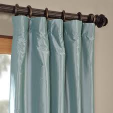 105 Inch Blackout Curtains by Robin U0027s Egg Blackout Faux Silk Taffeta Curtains Drapes