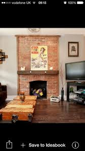 Paint Colors Living Room Red Brick Fireplace by Best 25 Exposed Brick Fireplaces Ideas On Pinterest Brick