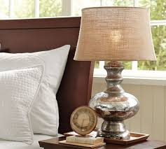 Rustic Style Table Lamps Cressey With And White Cushion Design For Bedroom