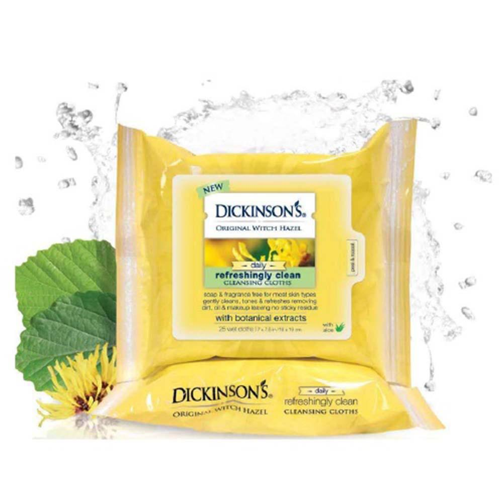 Dickinson's Original Witch Hazel Daily Refreshingly Clean Cleansing Cloths - 25 Cloths