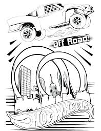 Hot Wheels Coloring Pages Free For Kids Cars Truck Team Pic