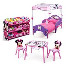 Minnie Mouse Kids Bedroom Furniture Sets 3 Piece Cozy Toddler Bed