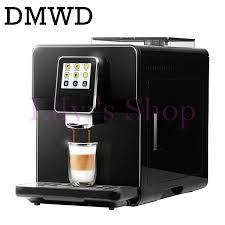 Commercial Fancy Cappuccino Coffee Maker Milk Foam Bubble Italian 19bar Espresso Machine Beans