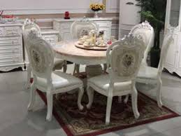 barock antik stil esszimmer set holz marmor tisch klassische