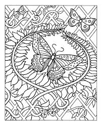 A Superb Coloring Page With Majestic Butterfly Harmonious Patterns Around From The Gallery