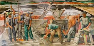 Coit Tower Murals Wpa by The Bauxite Mines 1942 Mural By Julius Woeltz For The U S Post
