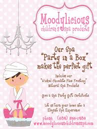 Moodylicious Childrens Spa Birthday Party