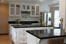 clear glass with white frame door of hanging cabinet plain black