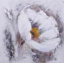 tableau peinture sur toile fleur telma 1 30x30cm peintures