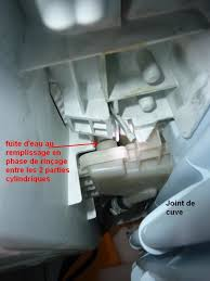 lave linge brandt malice aa fuite d eau au moment du rinçage