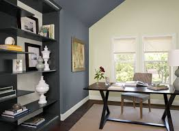 Best Colors For Living Room Accent Wall by Blue Home Office Ideas Boldly Accented Home Office Paint Color