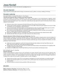 Examples Of Education Resumes Physical Educator Resume Sample Teacher Cover