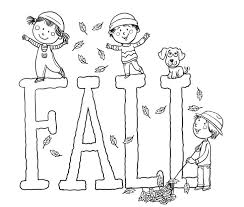 Printable Fall Coloring Pages For Kids Best Color The Picture And Word In This Fun Page