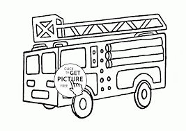 Funny Fire Truck Coloring Page For Kids, Transportation Coloring ...