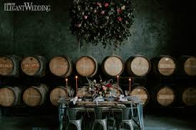 Dark And Moody Wedding Table