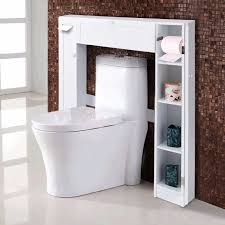 giantex holz weiß regal über die wc schrank drop tür spacesaver moderne badezimmer schränke home möbel hw56628