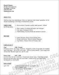 Chef Resume Pattern Sample