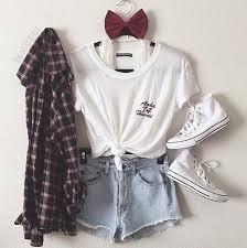 Clothes Clothing Converse Cute Fashion Flannel Flannels Outfit