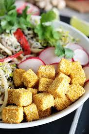 soba noodle bowl w crispy tofu vegan gf green evi