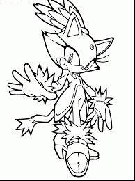 Spectacular Sonic Blaze Coloring Pages With And Shadow