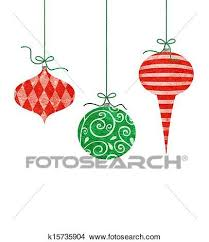 Drawings Of Whimsical Hanging Christmas Ornaments K15735904
