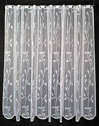 scheibengardine raffrollo blätterranke 45 cm hoch breite der gardine durch gekaufte menge in 14 5 cm schritten wählbar anfertigung nach maß weiß