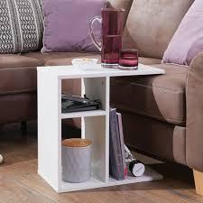 wohnling beistelltisch milo 50x50x30 cm holz weiß design anstelltisch sofa couchtisch klein modern kleiner wohnzimmertisch eckig sofatisch
