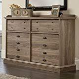 amazon com sauder harbor view dresser salt oak with four drawers