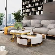 casa padrino luxus couchtisch set weiß gold 2 runde wohnzimmertische wohnzimmer möbel luxus qualität