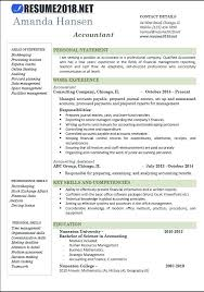 Accountant Resume Examples Best Template Of Free Format Sample Cv Uk Accounting