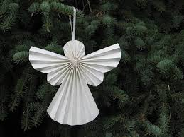DIY ACCORDION 3D PAPER ANGEL Christmas Decoration Craft For Kids Paper Crafts Gift Tags