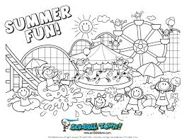 Summer Coloring Pages For Adults Inside