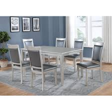 100 6 Chairs For Dining Room Shop Avignor 7Piece Contemporary Simplicity Set With