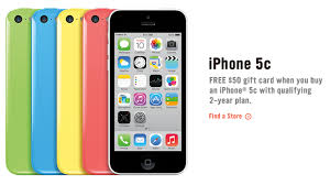 RadioShack and Walmart also offering iPhone 5c discounts