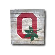 Ohio State Brutus Pumpkin Stencil by Ohio State Sign Block O Sign Graduation Gift Dorm Decor
