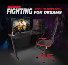 2019 Computer Gaming Desk RGB LED Lights Cable Management ...