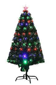 Fibre Optic Christmas Tree 6ft by 6ft 180cm Indoor Led Multicolour Fibre Optic Xmas Christmas Tree