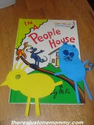 Craft For Dr Seuss Book In A People House