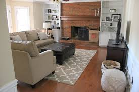 Paint Colors Living Room Red Brick Fireplace by Neutral Family Room Makeover Progress Erin Spain